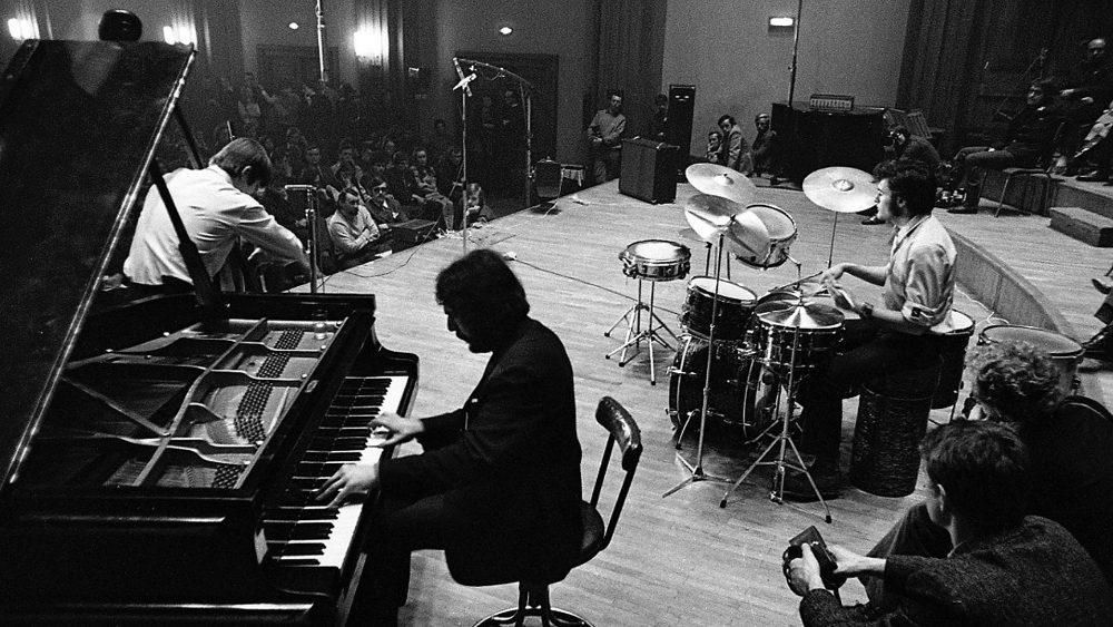 TRIO SŁABOSZOWSKIEGO, STUDIO PR we Wrocławiu, 1970 - 7 edycja festiwalu Jazz nad Odrą Fot. Marek Karewicz